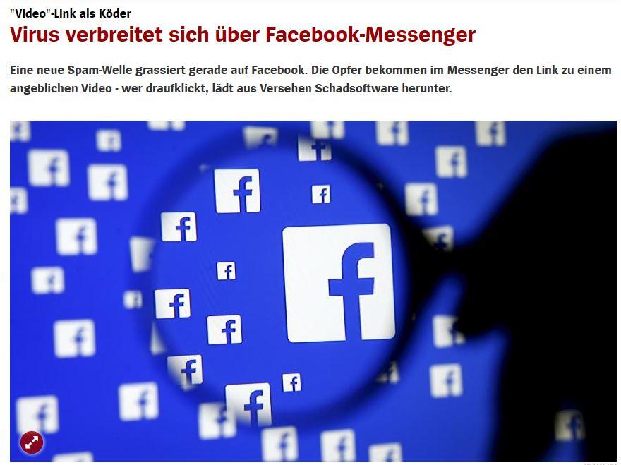 DatensicherheitFacebookMessengerVirus