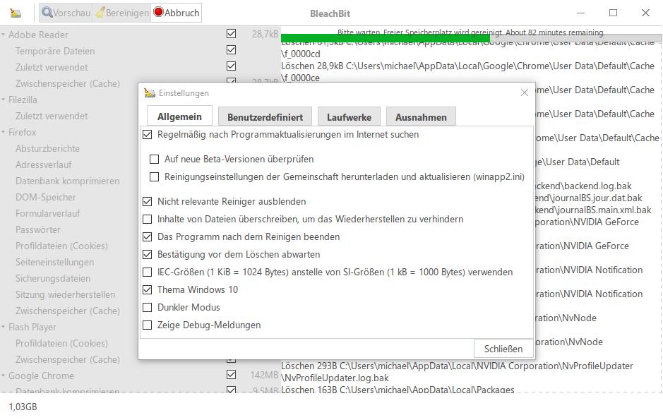 Datenträgerbereinigung bei Win10 – CNE Tool-Tipp