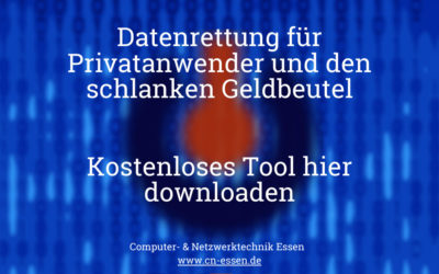Datenrettung für Privatanwender und den schlanken Geldbeutel